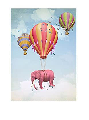 NOORMAL Leinwandbild Flying Elephant