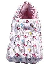 Amardeep pink color Baby Sleeping Bag Cum Baby Carry Bag 64*41 cms