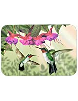 Caroline's Treasures PTW2051CMT Fuchsia and Hummingbirds Kitchen or Bath Mat, 20 by 30 , Multicolor