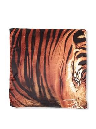 CHIC Women's Tiger Digital Square Silk Scarf, Multi, One Size