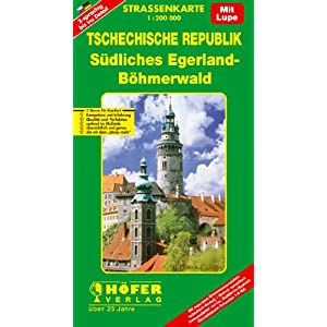 【クリックでお店のこの商品のページへ】Hoefer Tschechische Rep. CS004. Suedliches Egerland 1 : 200 000. Strassenkarte [地図]