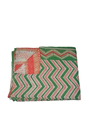 Large Vintage Lalima Kantha Throw, Multi, 60