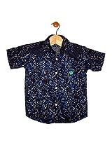 Globe Boys Denim Printed Shirt Half Sleeve