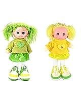 Tickles Green,Yellow Gorgeous Girl Doll Stuffed Soft Plush Toy Love Girl 30 cm