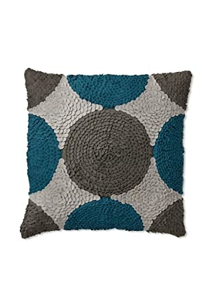 Zalva Dilbar Decorative Pillow, Teal/Grey/Cream, 18