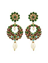 Dilan Jewels PURE Collection Multicoloured Antique Golden Baali Style Pachi Earrings For Women