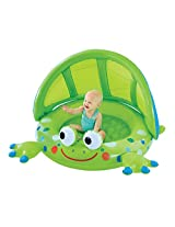 Early Leaning Centre Frog Baby Shade Pool - Padded Base and Inflatable Shade Wall - Great First Pool for Baby - For Indoor and Outdoor Use - Ages 12 Months and Up