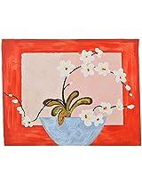 Koshi Traders Handmade Cloth Canvas Wall Painting (KT_WP_3, 39 cm x 30 cm, Red)