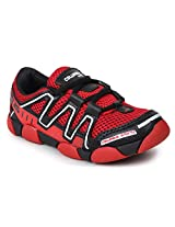 Columbus Black And Red Boys Sports Shoes Junior 18
