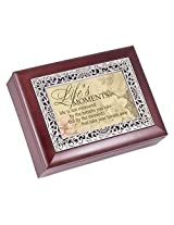 Lifes Moments Rosewood Finish with Silver Inlay Jewelry Music Box - Plays Tune Wonderful World