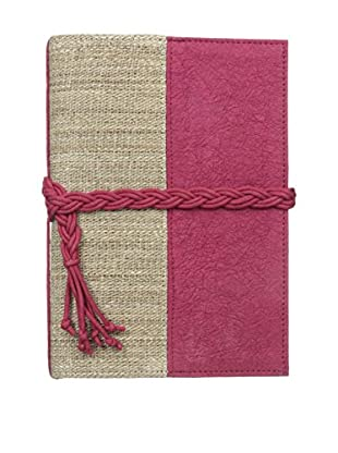 Marina Vaptzarov Small Vegetal Leather & Nettle Fabric Sketchbook, Fuchsia