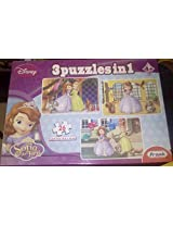 FRANK Disney Sofia The First 3 Puzzles In 1