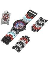 LEGO Kids 9000423 Legends of Chima Worriz Plastic Watch with Link Bracelet and Figurine
