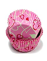 Chef Craft 50 Count Cupcake Liners, Hearts