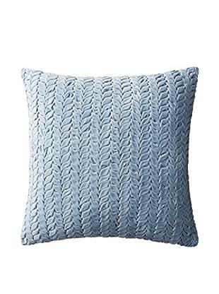 Nitin Goyal London Hand-Smocked Leaf Cotton Velvet Throw Pillow