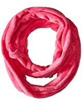 180s Women's Lush Loop Scarf, Shocking Pink, One Size