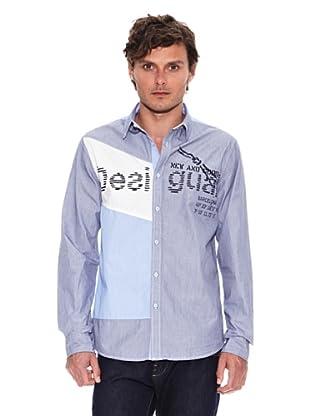 Desigual Camisa Soft Flag Rep (Azul)