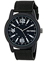 Zoo York Men's ZY1223 Core Street Analog Display Analog Quartz Black Watch