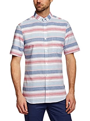French Connection Camisa Weft (Azul / Rosa)