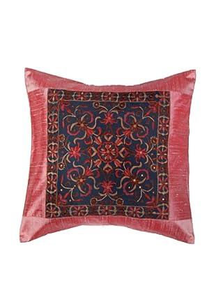 Mela Artisans Constellation Silk Cushion Cover, Pink