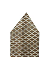 Navaksha Brown Geometrical Pocket Square