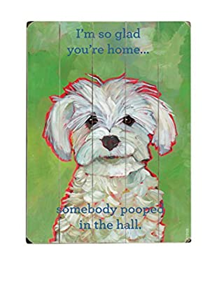 Artehouse I'm So Glad You're Home Wood Wall Décor (Green/White)