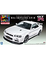 1/24 Pre-Painted Model series No.32R34 Skyline GT-R V-SpecII (White Pearl) (japan import)