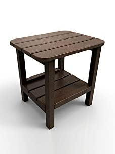 "Malibu Outdoor Furniture 15"" x 19"" End Table (Dark Brown)"
