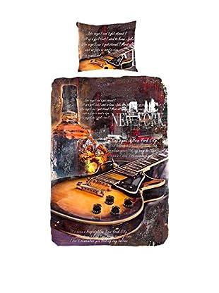Good Morning Bettdecke und Kissenbezug 5042-P Guitar