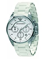 Emporio Armani Silicone Chronograph Ladies Watch Ar5867