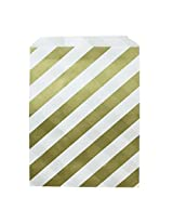 Dress My Cupcake Striped Party Favor Bags (Set Of 24), Gold