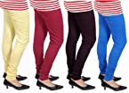 Rudham Leggings Combo Yellow-Maroon-Black-Dark Blue (4 Pieces)