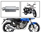 Vheelocity 83439 Short Motorcycle Exhaust for Royal Enfield Bullet Electra