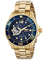 """Invicta Men's 15393 """"Pro Diver"""" 18k Gold Ion-Plated Watch"""