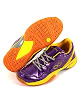 Pure Play Badminton / Squash / Indoor Court Shoes Purple / Yellow (Ind / UK 11) (IND/UK 10)