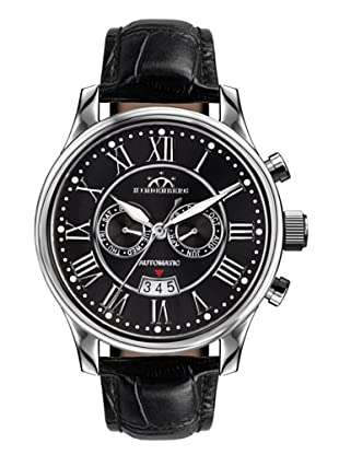 Hindenberg Armbanduhr Open Date Leder/silber/schwarz