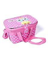 Nursery Organizer Storage Container Large Travel Basket Bin Owl Polka Dot (Pink)