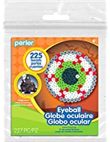 Perler Beads Eerie Eyeball Activity Kit with Pegboard (225 Count), 80-72939