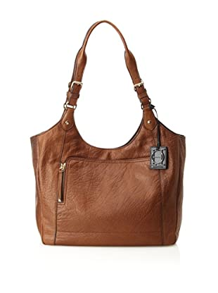 OH by Joy Gryson Unzipped Front Pocket Shopper (Brown)