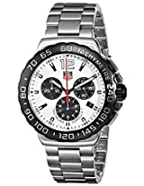 TAG Heuer Men's CAU1111.BA0858 Formula 1 White Dial Chronograph Steel Watch