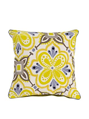 Surya Embroidered Throw Pillow, Quicksilver