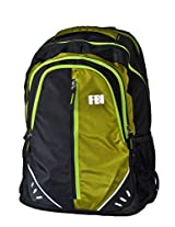 Backpack with Laptop Compartment (FBI 34 Black Green)