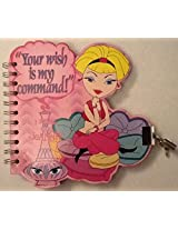 """""""Your Wish Is My Command!"""" I Dream of Jeannie Journal / Diary with Lock & Key"""