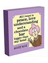 Aunty Acid All I Want Is Peace Wall Canvas