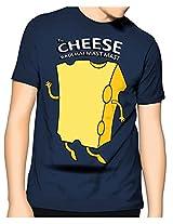 Cotton Cheese T-Shirt-Dark Blue-M