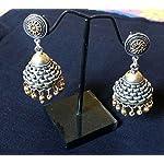 Oxidised Silver Jhumki Earring