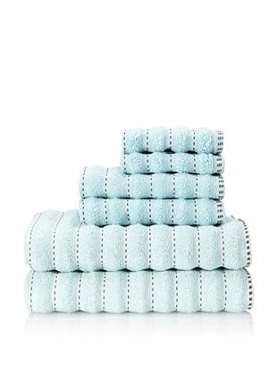 Famous International Stitches 6-Piece Towel Set (Aqua/Hot Fudge)