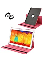 360 Degree Rotatable Litchi Texture Leather Case with 3-angle Viewing Holder for Samsung Galaxy Note Pro 12.2 / P900 / Samsung Galaxy Tab Pro 12.2 (Magenta)