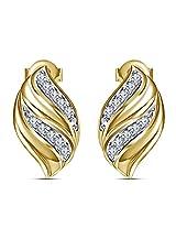 Vorra Fashion Women /Girls Fancy 925 Sterling Silver 14k Rose Gold Plated Stud Earrings Jewelry