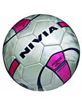 Nivia Fire Ball Replica Football  (White/Purple)